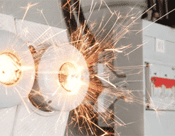 Electrical equipment causing sparks